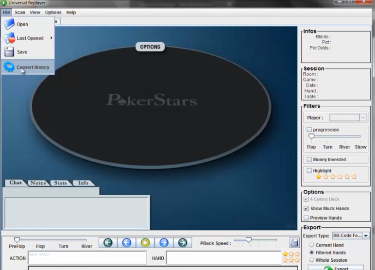 universal replayer poker